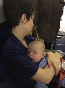What happens after an 8 hour, sleepless flight.